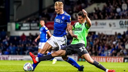 Flynn Downes has started all nine league games for Ipswich Town. Photo: Steve Waller
