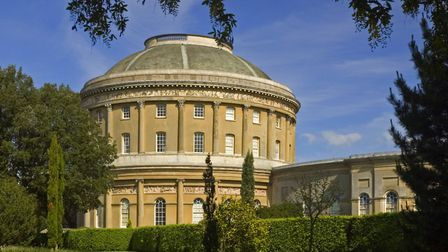 Work on the rotunda at Ickworth has been delayed because of gusty winds. Picture: NATIONAL TRUST/ROB