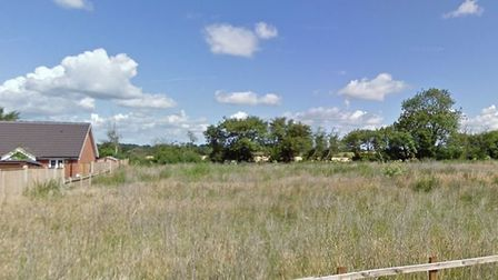 Part of the site off Post Mill Lane in Fressingfield that has been turned down for development by t