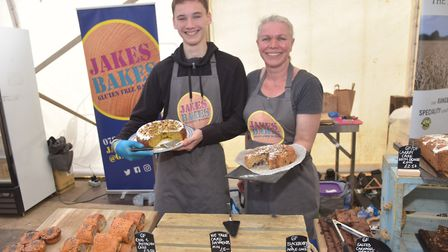 Jake and Charlotte O'Bryan of Jakes Bakes at Aldeburgh Food & Drink festival Picture: SONYA DUNCAN