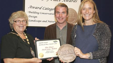 Lucie Fairweather and architect Jerry Tate won an award from Suffolk Coastal District Council in 201