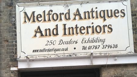 Melford Antiques & Interiors, in Hall Street, Long Melford, has shut down. Photo: Archant.