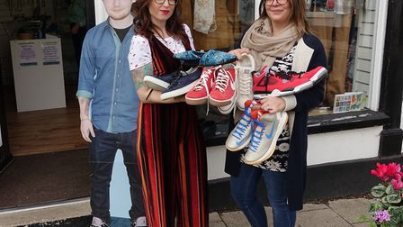 Eighteen pairs of Ed's shoes are set to be sold for charity Picture: EAST ANGLIA NEWS SERVICE