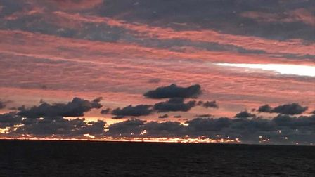 Stunning skies appeared over Suffolk on Saturday Picture: JANE CLARK