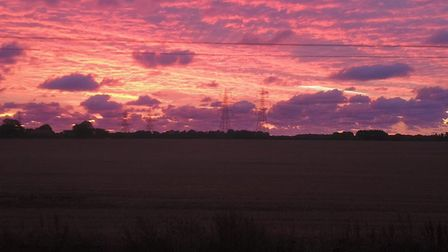 Martin snapped this shot of the sky over Leiston yesterday morning. Picture: MARTIN CUTHBERT