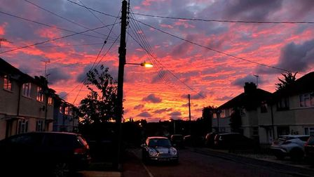 A photo of the sunrise over Leiston yesterday morning. Picture: MEGAN CLEMENTS