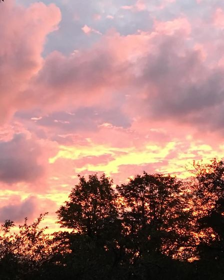 A great photo of the sunrise on Saturday morning. Picture: ANGELA CHALLIS