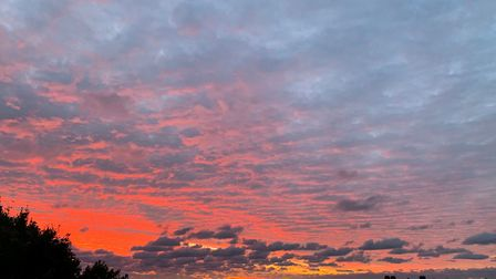 Louise snapped this great picture of the skies over Aldeburgh on Saturday morning. Picture: LOUISE S
