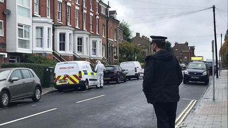 Officers found two men dead inside a property in Colchester, a third was found in a car outside. PIC