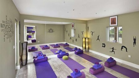 Hill Farm House has its very own yoga room. Picture: BEDFORDS