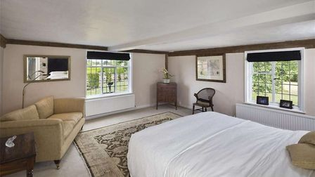 On the first floor of Hill Farm House there is a superb master suite enjoying a double-aspect with v