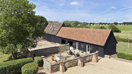 The property has around 3 acres all together, in Drinkstone. Picture: BEDFORDS