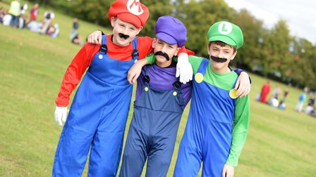 Pupils came as the Mario brothers Picture: SARAH LUCY BROWN