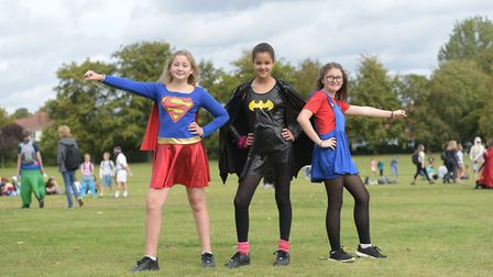 Pupils from Farlingaye High School got dressed up for their annual walk around Woodbridge Picture: