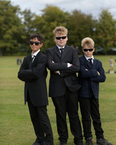 Pupils as the Men in Black Picture: SARAH LUCY BROWN