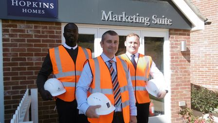 Hopkins Homes, new trainee assistant site manager scheme, new trainees Evans Osifo-Doe and Melvyn Gi
