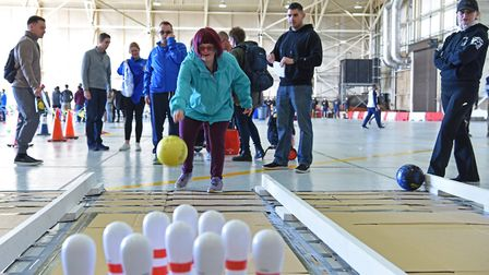 An athlete at the 38th Annual Joan Mann Special Sports Day at RAF Mildenhall Picture: US AIR FORCE /