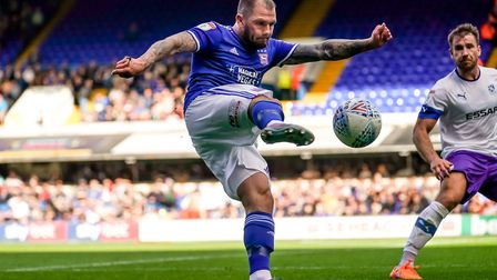 James Norwood whips a ball in on the half hour. Picture: Steve Waller www.stephenwaller.com