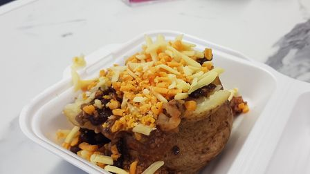 A homemade chilli filled jacket potato at Simply Spuds Picture: Simply Spuds