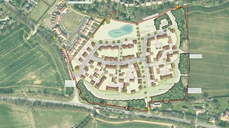The plans for 80 new homes at land east of Sands Hill, Boxford Picture: THE ENVIRONMENTAL DIMENSION