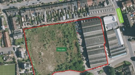 A retirement community could be built on the former Ingate Ironworks site in Beccles. Photo: McCarth