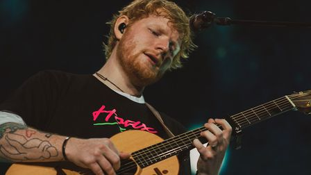 Ed Sheeran, pictured here performing at Chantry Park in Ipswich. Picture: ZAKARY WALTERS