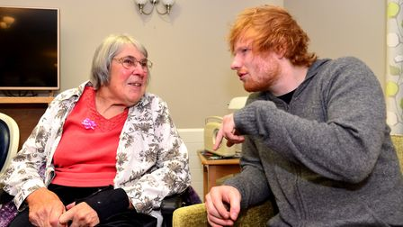 Ed Sheeran opens the new Sheeran Suite at Mills Meadow Care Home in Framlingham and chats with resid