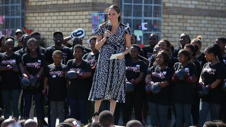 The Duchess of Sussex speaks during her recent trip to South Africa - Megan is an inspiration to Nin
