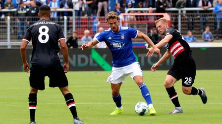 Emyr Huws played a full part in Ipswich Town's pre-season. Picture: ROSS HALLS