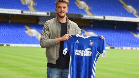 Emyr Huws signed a four-year deal with Ipswich Town in 2017. Picture : SARAH LUCY BROWN