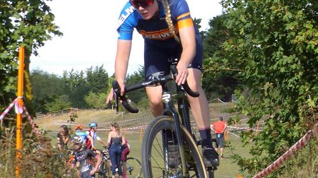 Ipswich rider Gemma Melton (XRT/Elmy Cycles) – third in a field of 160 at Milton Keynes. Picture: F