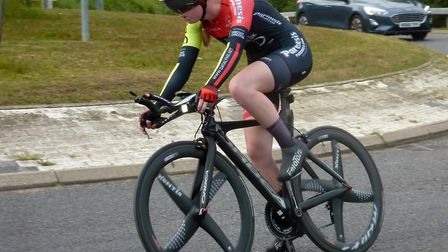 Sudbury Junior Isabella Johnson - three seconds away from the women's win in west Norfolk. Picture: