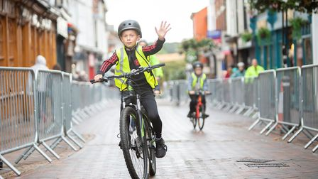 All ages used pedal power to get around a 1.1mile loop of Bury St Edmunds Picture: PHIL MORLEY PHOTO