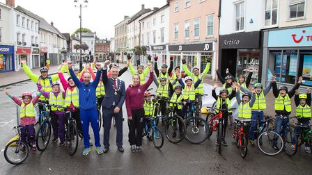 Nearly 600 people turned out for the second Bury Goes Biking event in Bury St Edmunds Picture: PHIL
