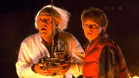 Christopher Lloyd and Michael J. Fox in Back to the Future Picture: UNIVERSAL PICTURES