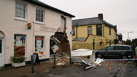 Martin McColl newsagent in Long Melford after the raid Picture PAUL GEATER