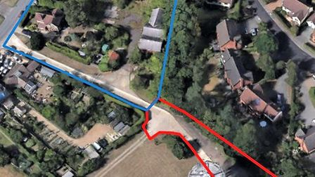 Satellite map shows the extent of the former Anglian Water depot site where building works hope to c
