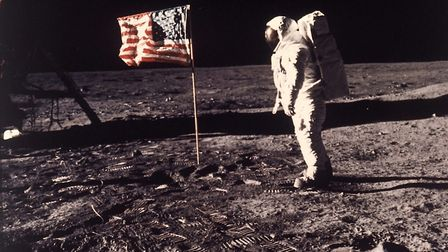 'Buzz' Aldrin Jr (pictured) and Neil Armstrong were the first men to walk on the lunar surface - on