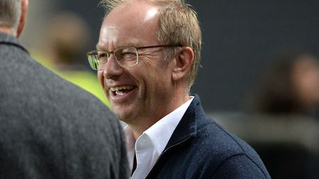 Ipswich Town owner Marcus Evans, pictured at MK Dons recently. Photo: Pagepix
