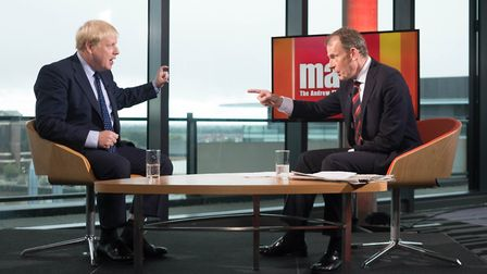 Boris Johnson was challenged about his language by Andrew Marr, Picture:: Stefan Rousseau/PA Wire
