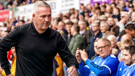 Town manager Paul Lambert pictured ahead of the Tranmere match. Picture: STEVE WALLER