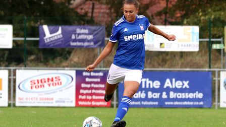 Paige Peake pictured during Town Women's 2-1 victory over Billericay Picture: ROSS HALLS