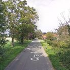 A car collided with a tree in Cranley Green Road before catching fire Picture: GOOGLE MAPS