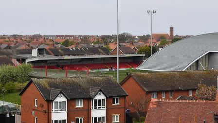 A general view of Highbury Stadium, the home of Fleetwood Town. Picture: PA