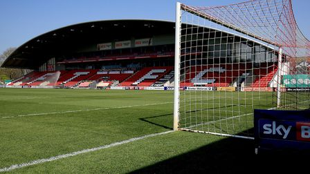 Inside Highbury Stadium, which has a capacity of just 5,327. Picture: PA