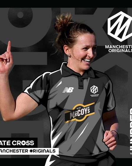 Kate Cross will play for Manchester Originals in The Hundred next summer. Picture: ECB/PA SPORT