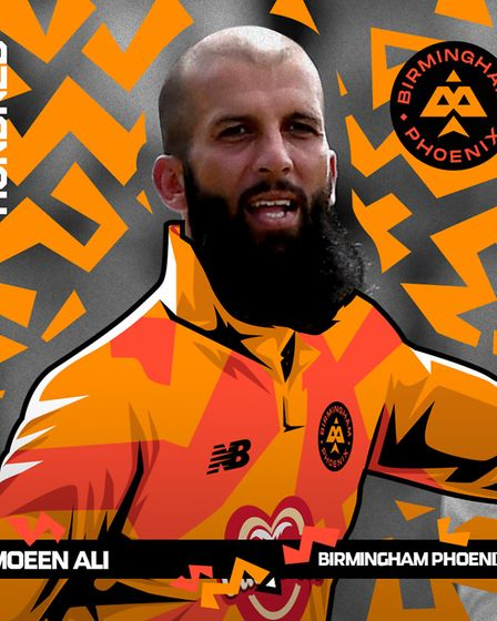 Moeen Ali who has been selected to play for Birmingham Phoenix in The Hundred next summer. Picture: