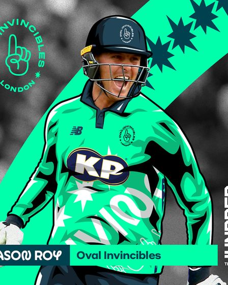 Jason Roy will play for the Oval Invincibles in The Hundred next Summer. Picture: ECB/PA SPORT