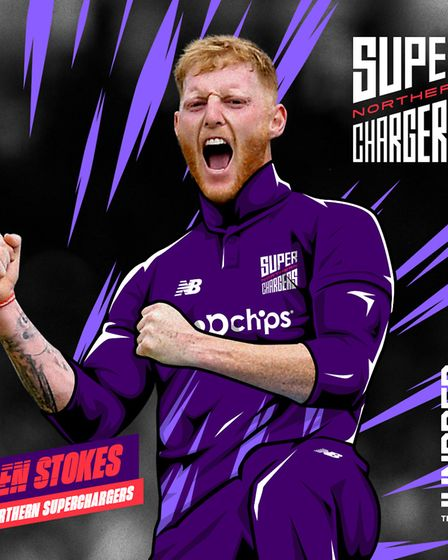 Ben Stokes has been selected to play for Northern Superchargers in The Hundred next Summer. Picture: