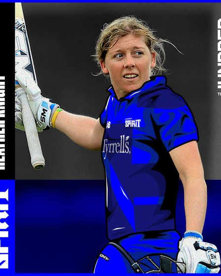 Heather Knight will represent the London Spirit in The Hundred. Picture: ECB/PA
